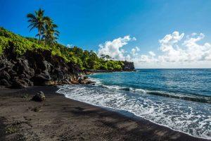Hawaii Maui Waianapapa State Park Beach
