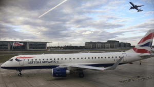 London City BA ERJ Parking Departure in the Background Small