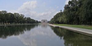 Washington DC Lincoln Memorial Water
