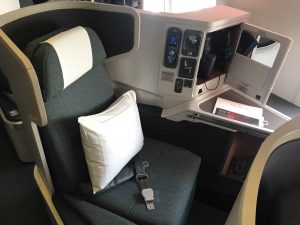 cathay pacific business seat