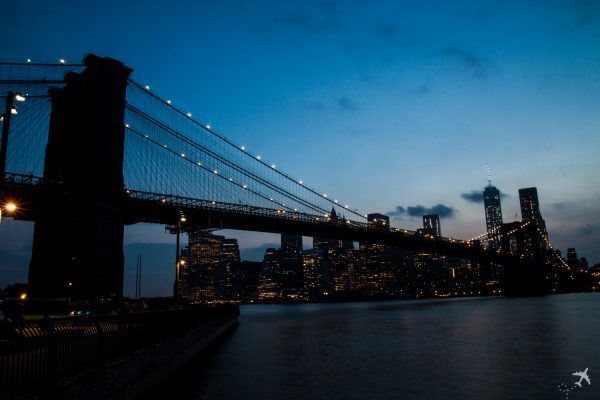 Skyline Brooklyn Bridge New York, USA