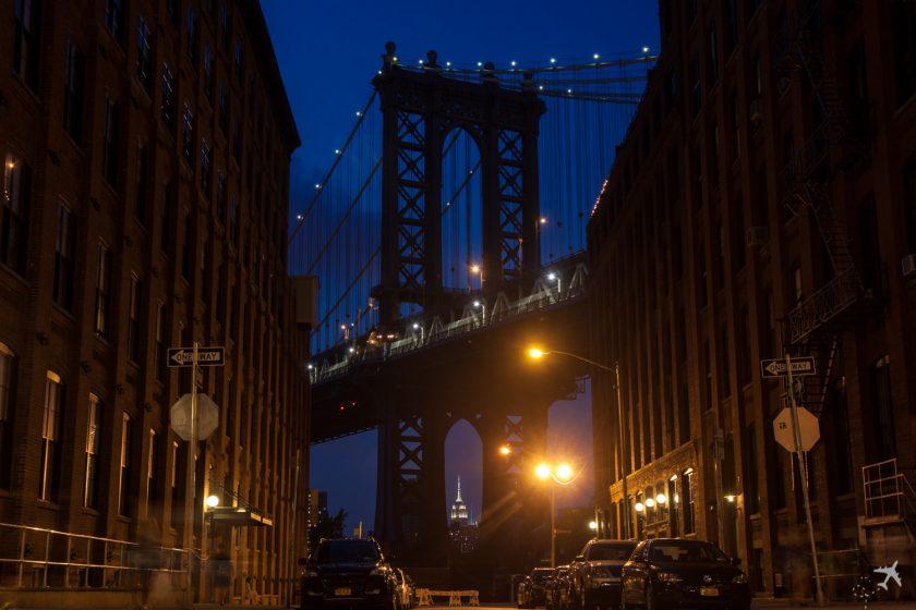 Einfach Imposant: die Manhattan Bridge und das Empire State Building