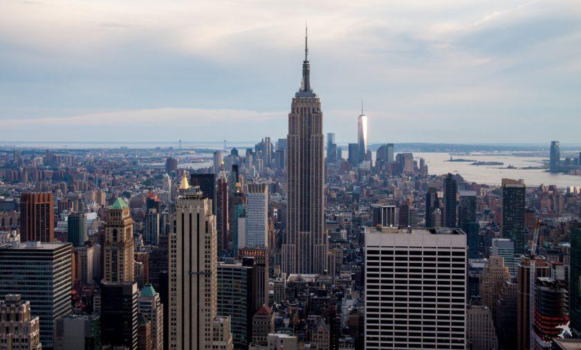 Blick auf Downtown mit Empire State Building