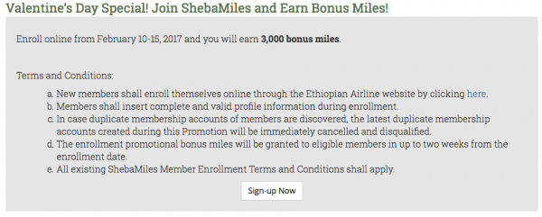 ShebaMiles 3.000 Meilen Bonus