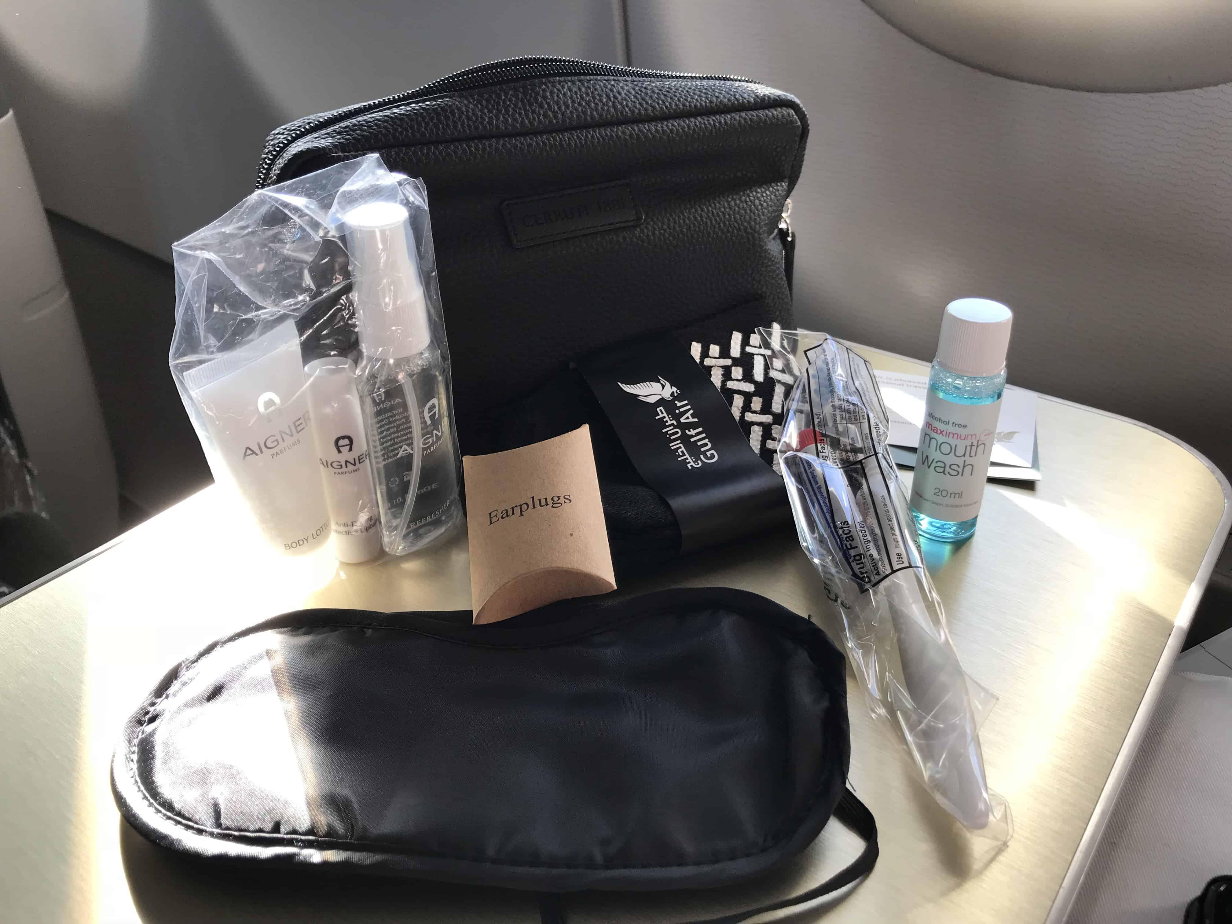 Gulf Air Bewertung - Amenity Kit