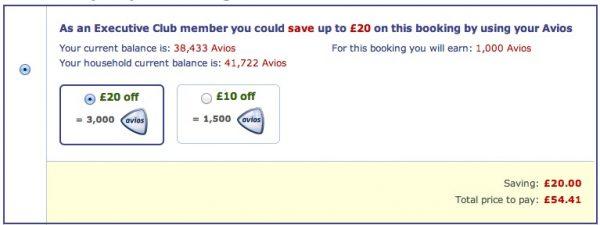 Teil des Flugpreises mit Avios bezahlen