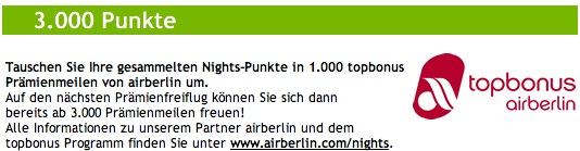 Lindner Punkte in Air Berlin Topbonus Meilen umwandeln