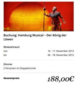 Travador König der Löwen Hamburg