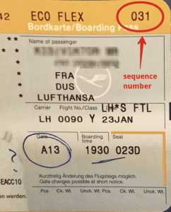 lh boarding pass sequence number