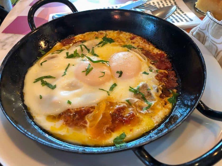 25hours Hotel Paris Breakfast Shakshuka