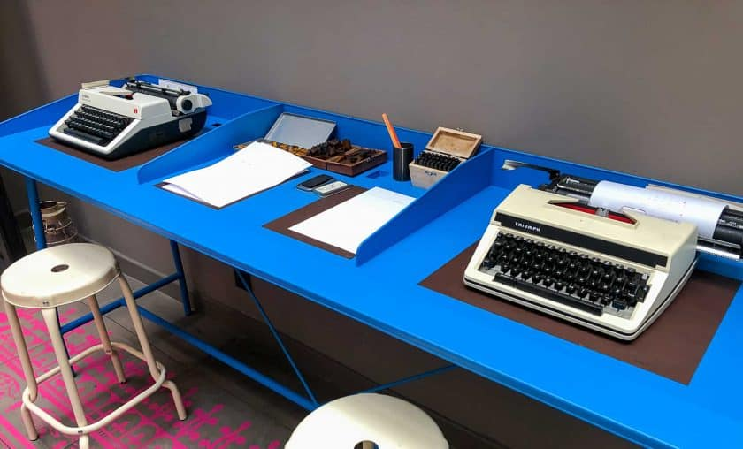 25hours Hotel Paris Living Typewriters