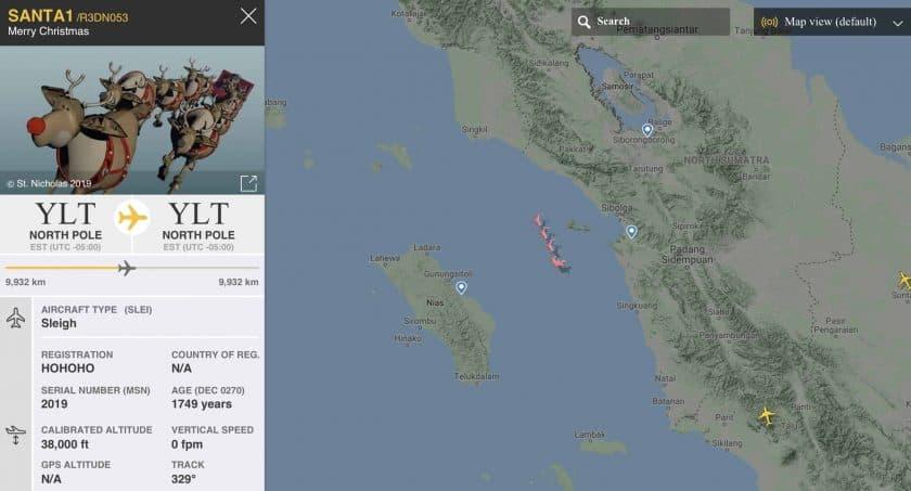 Flightradar24 Santa