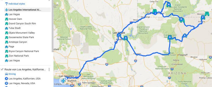 Rundreise mit Grand Canyon
