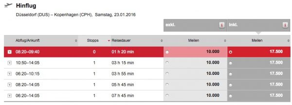Air Berlin Topbonus Düsseldorf - Kopenhagen