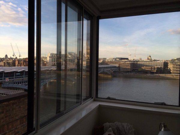 Ausblick aus Apartment Nr. 1 auf die Themse
