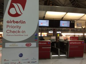 Priority Check-in bei Air Berlin