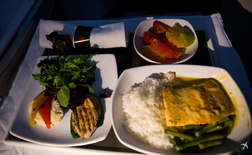 Air Canada Boeing 787-8 Business Class Menu