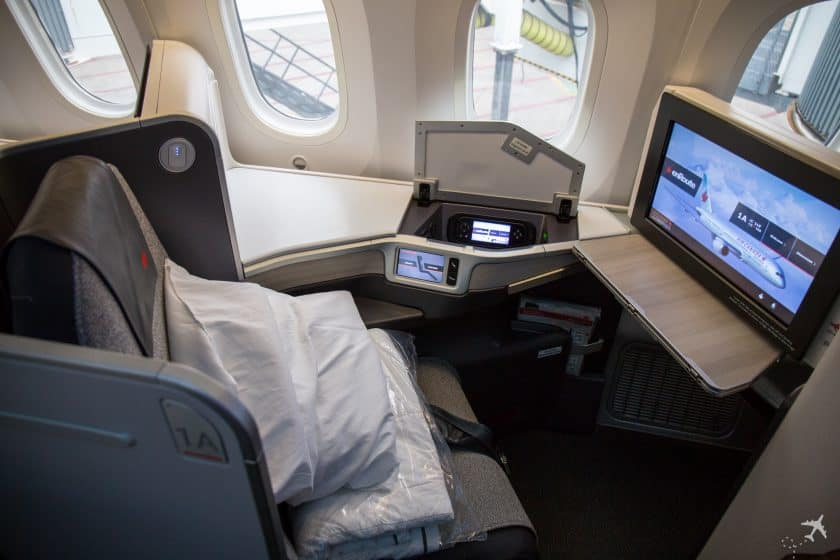 Air Canada Boeing 787-8 Business Class Sitz Hinten