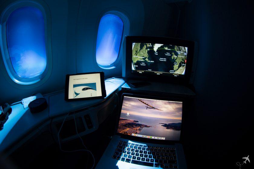 Air Canada Boeing 787-9 Business Class Abgedunkelt