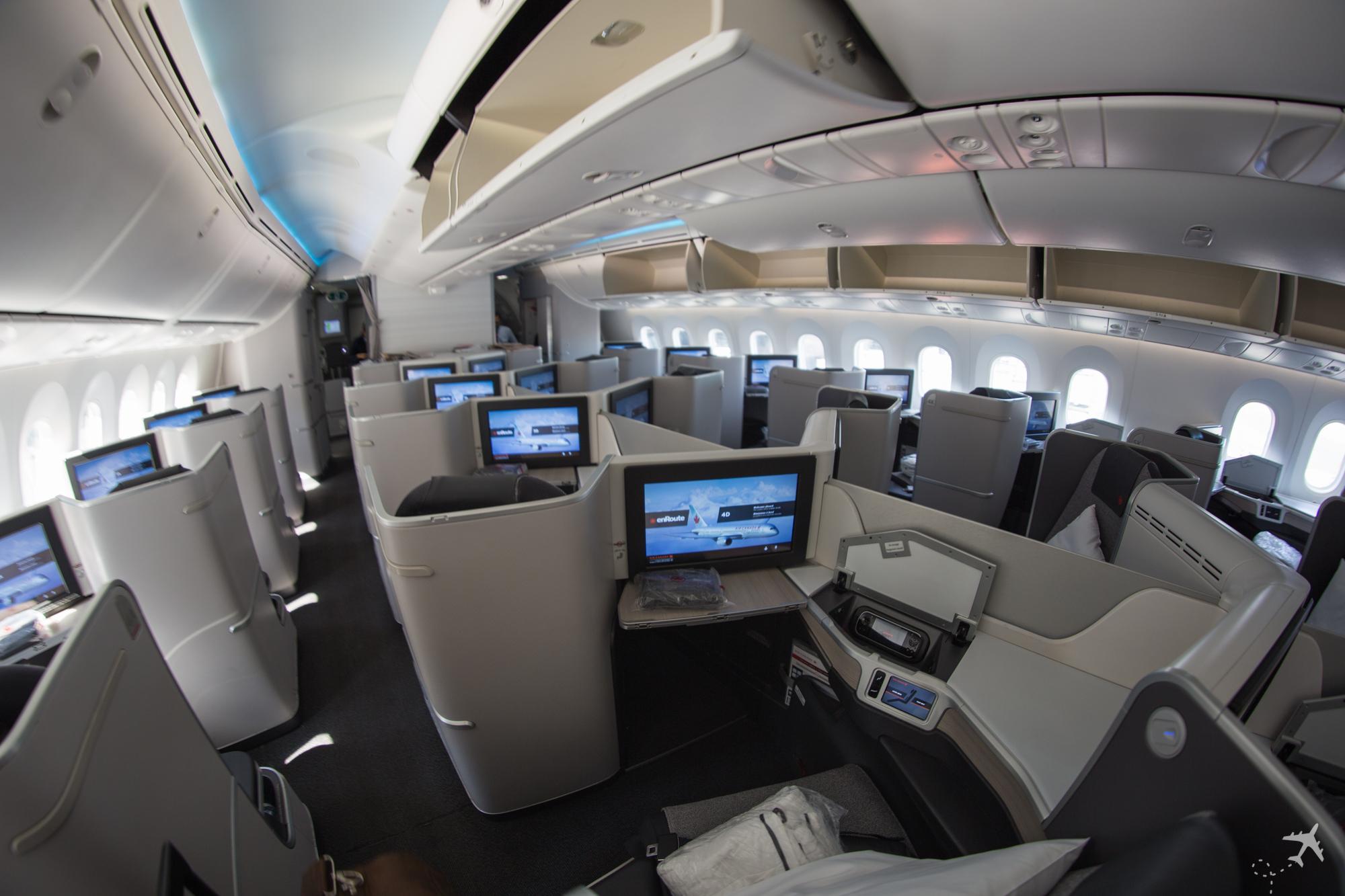 Air Canada Boeing 787-9 Business Class Kabine