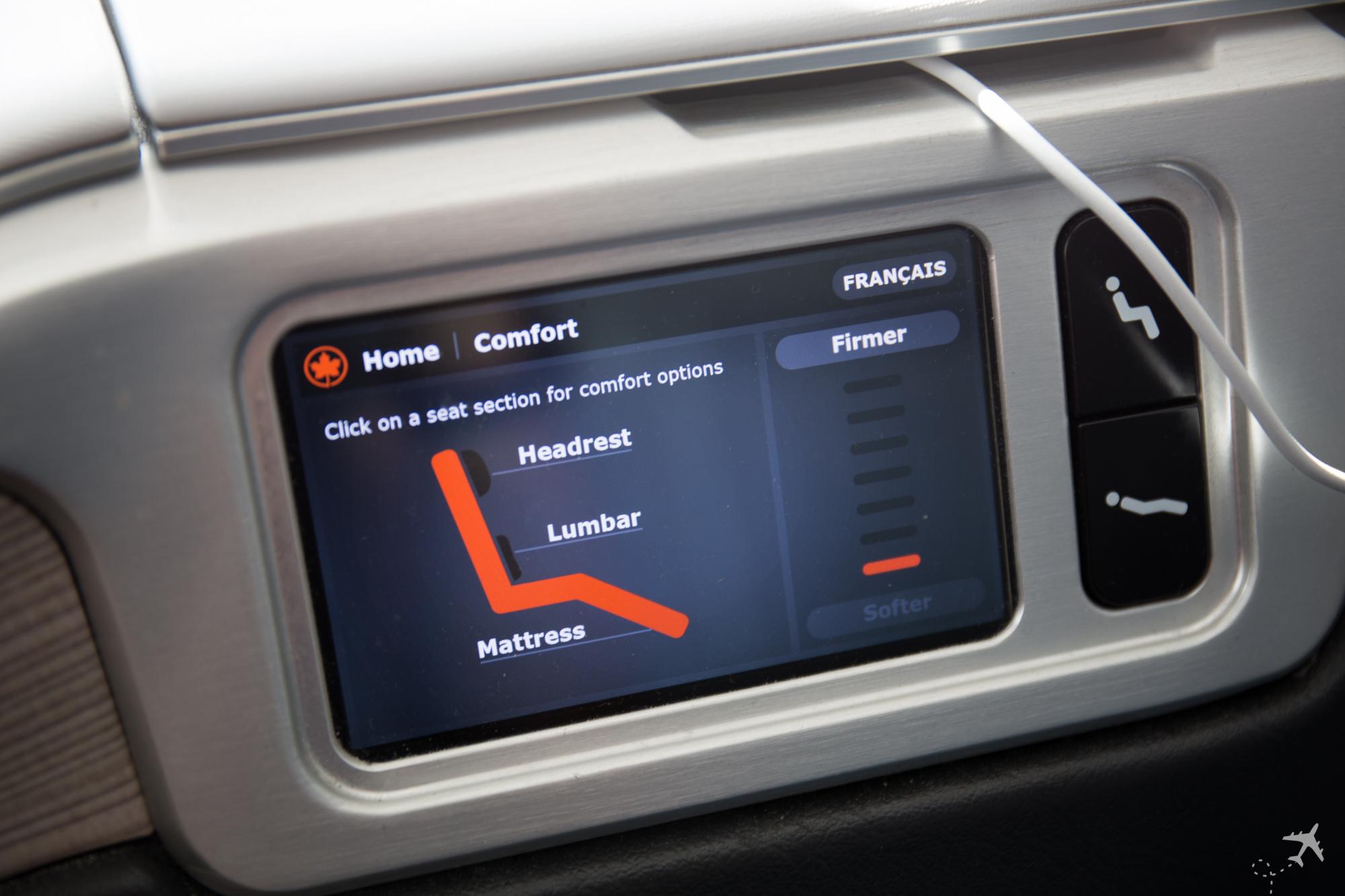 Air Canada Boeing 787-9 Business Class Control Comfort Mattress