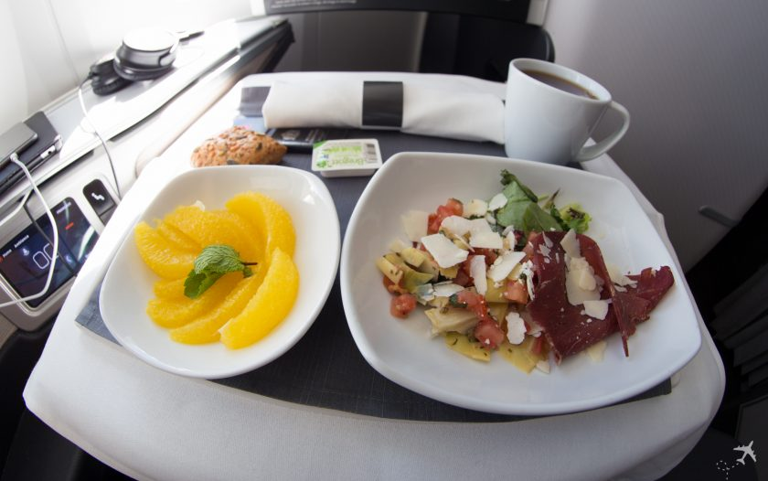 Air Canada Boeing 787-9 Business Class Light Meal