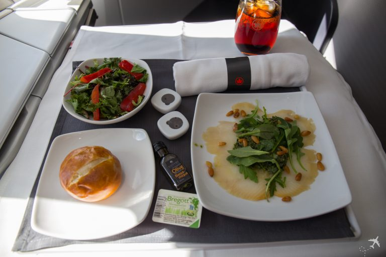 Air Canada Boeing 787-9 Business Class Lunch