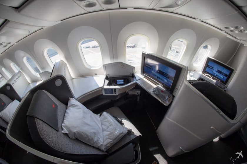Air Canada Boeing 787-9 Business Class Sitz Fenster