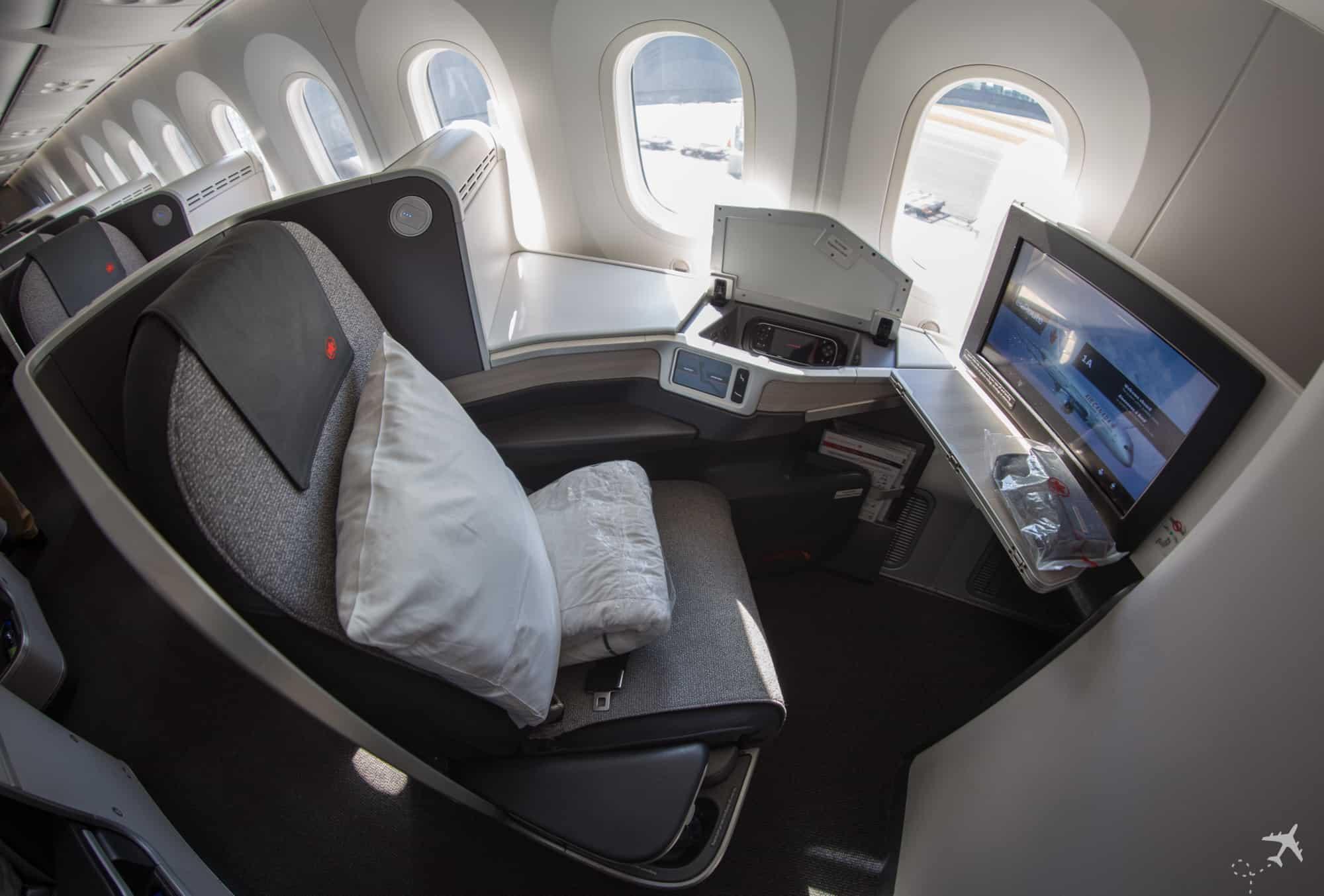 Air Canada Boeing 787-9 Business Class Sitz Fenster