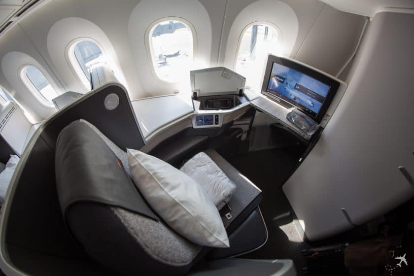 Air Canada Boeing 787-9 Business Class Sitz Hinten
