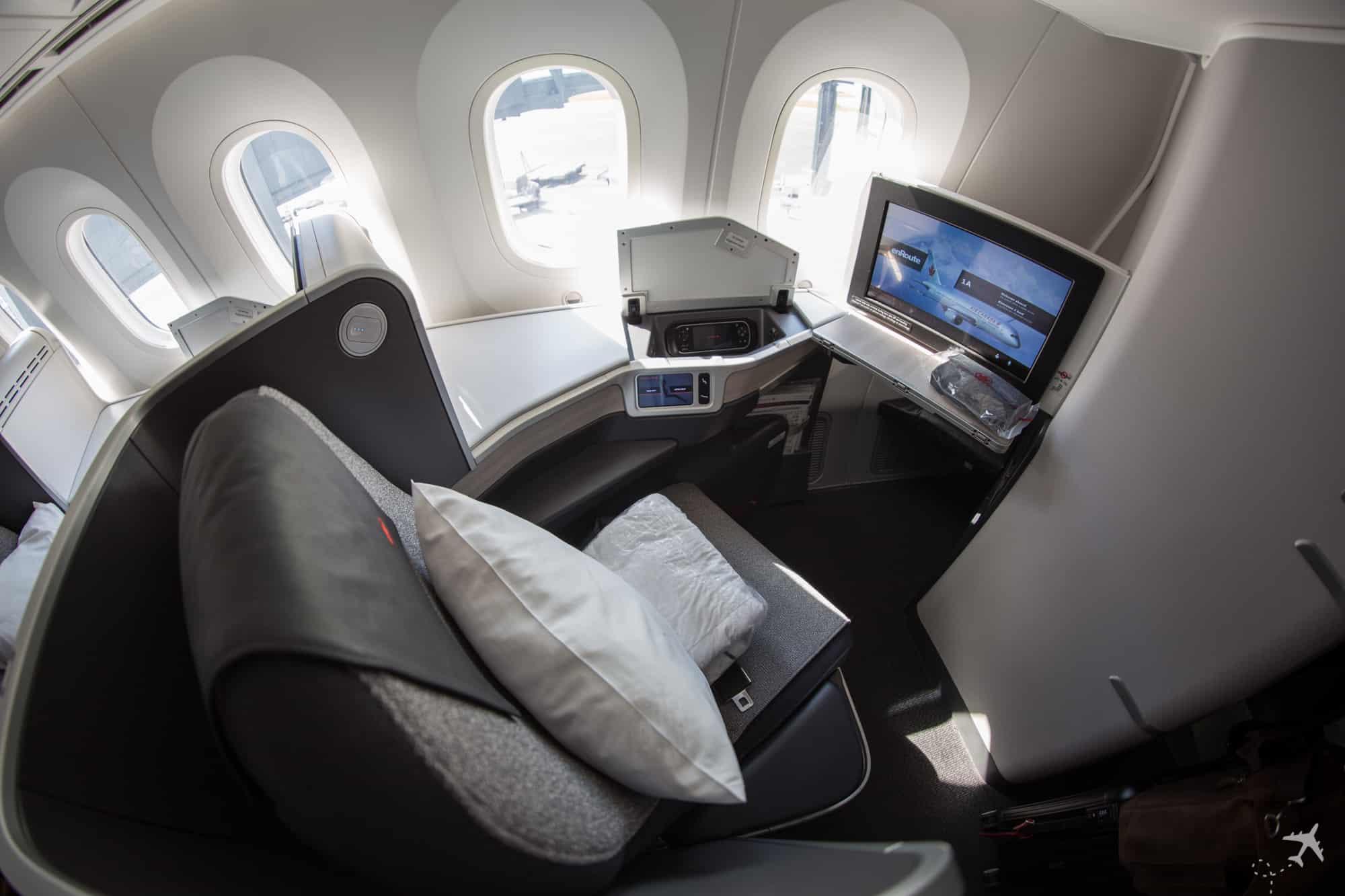 Air Canada Boeing 787-9 Business Class Sitz Hinten