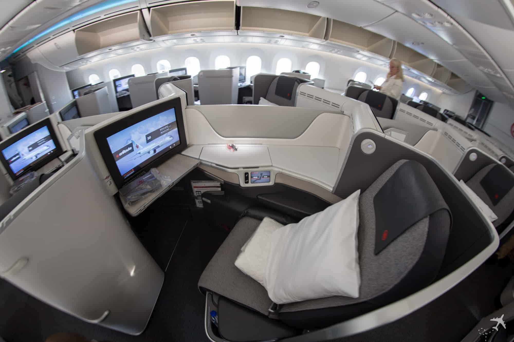 Air Canada Boeing 787-9 Business Class Sitz Mitte