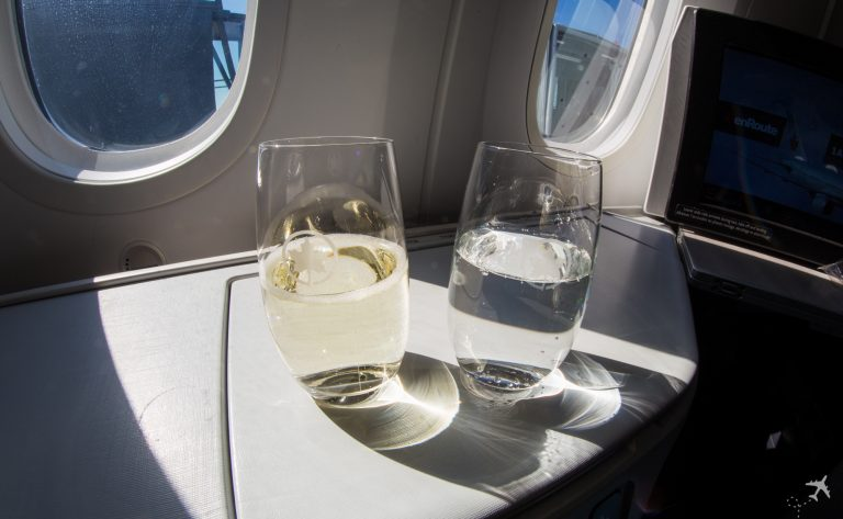 Air Canada Boeing 787-9 Business Class Welcome Drink