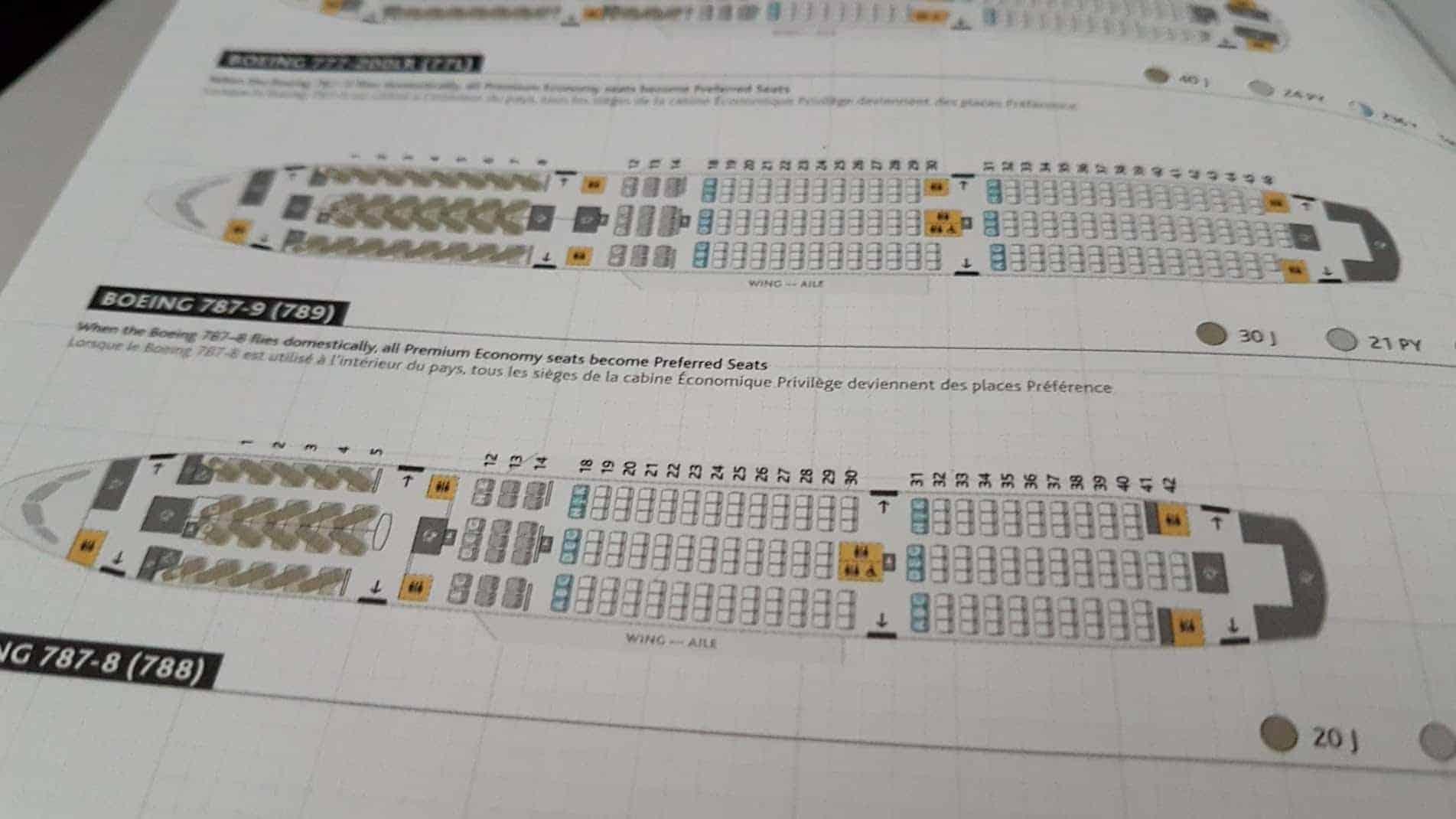 Air Canada Navi Seatmap