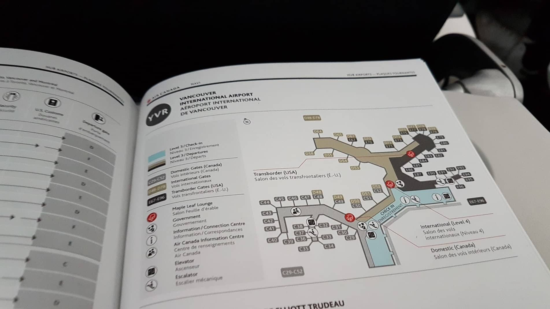 Air Canada Navi Terminal Map