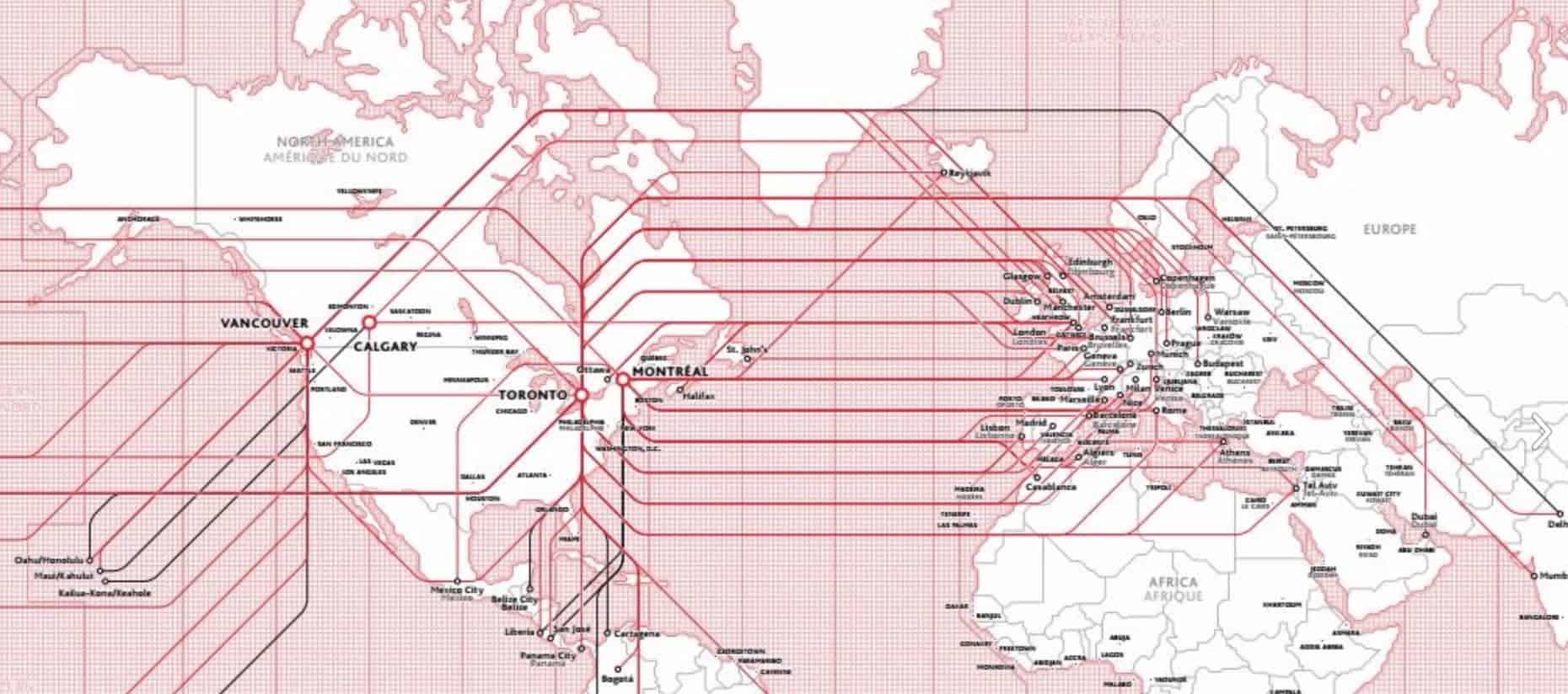 Air Canada Streckennetz