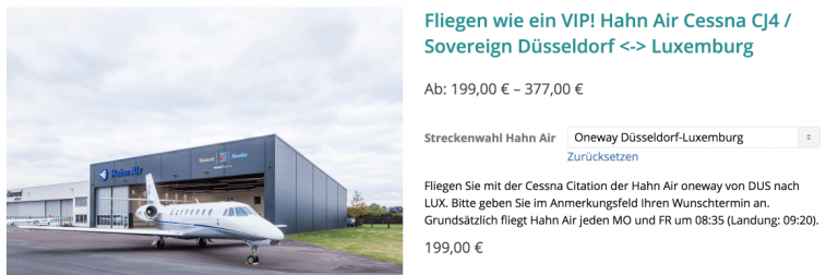 Air Events Hahn Air DUS-LUX