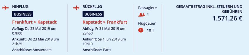 Air France FRA CPT