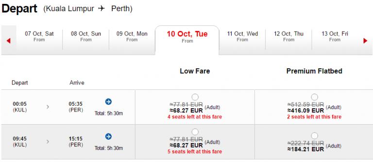 AirAsia Gutschein Perth