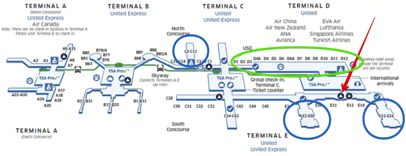 Airport Map Houston