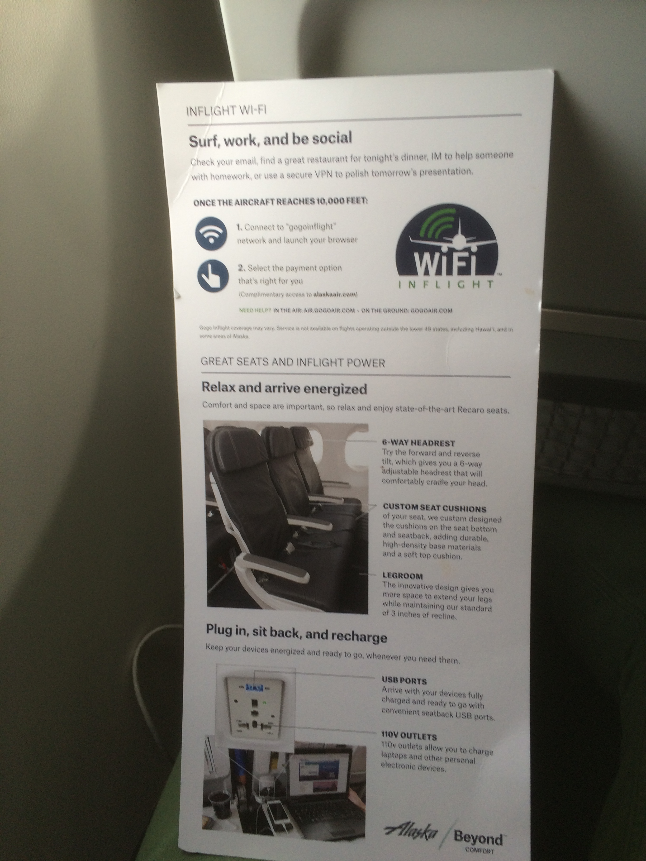 Alaska Airlines WiFi