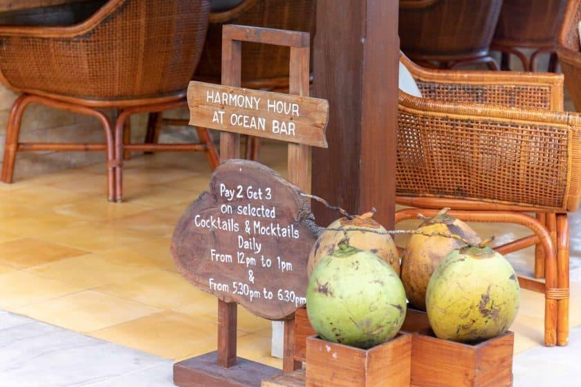 Alila Manggis Hotel Bali Ocean Bar Harmony Hour