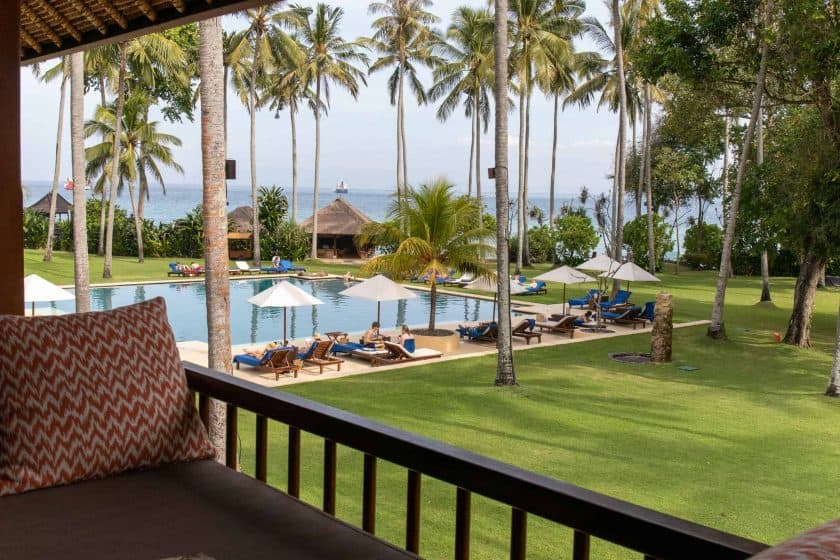 Alila Manggis Hotel Bali Zimmer Balkon