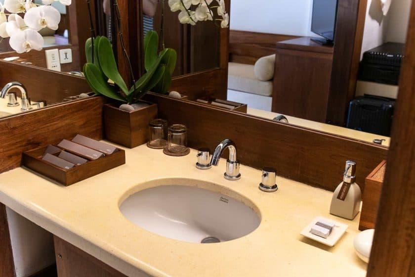 Alila Manggis Hotel Bali Zimmer Waschbecken