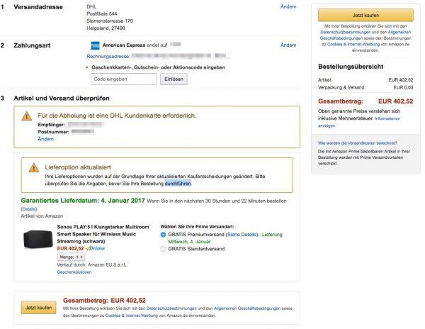 Duty Free nach Helgoland liefern lassen bei Amazon