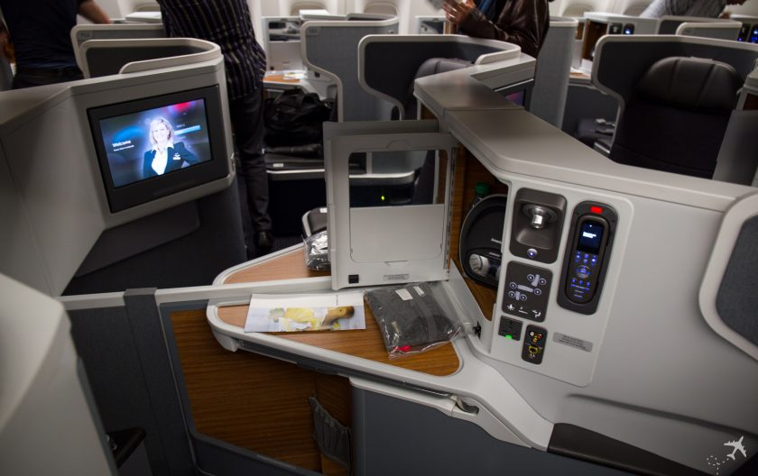 American Airlines Business Class Mittelsitz