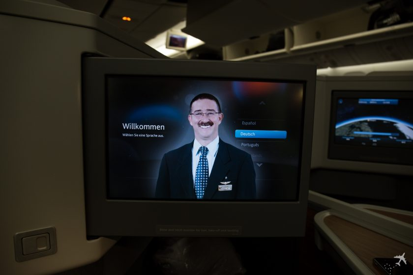 American Airlines Business Class Entertainment System