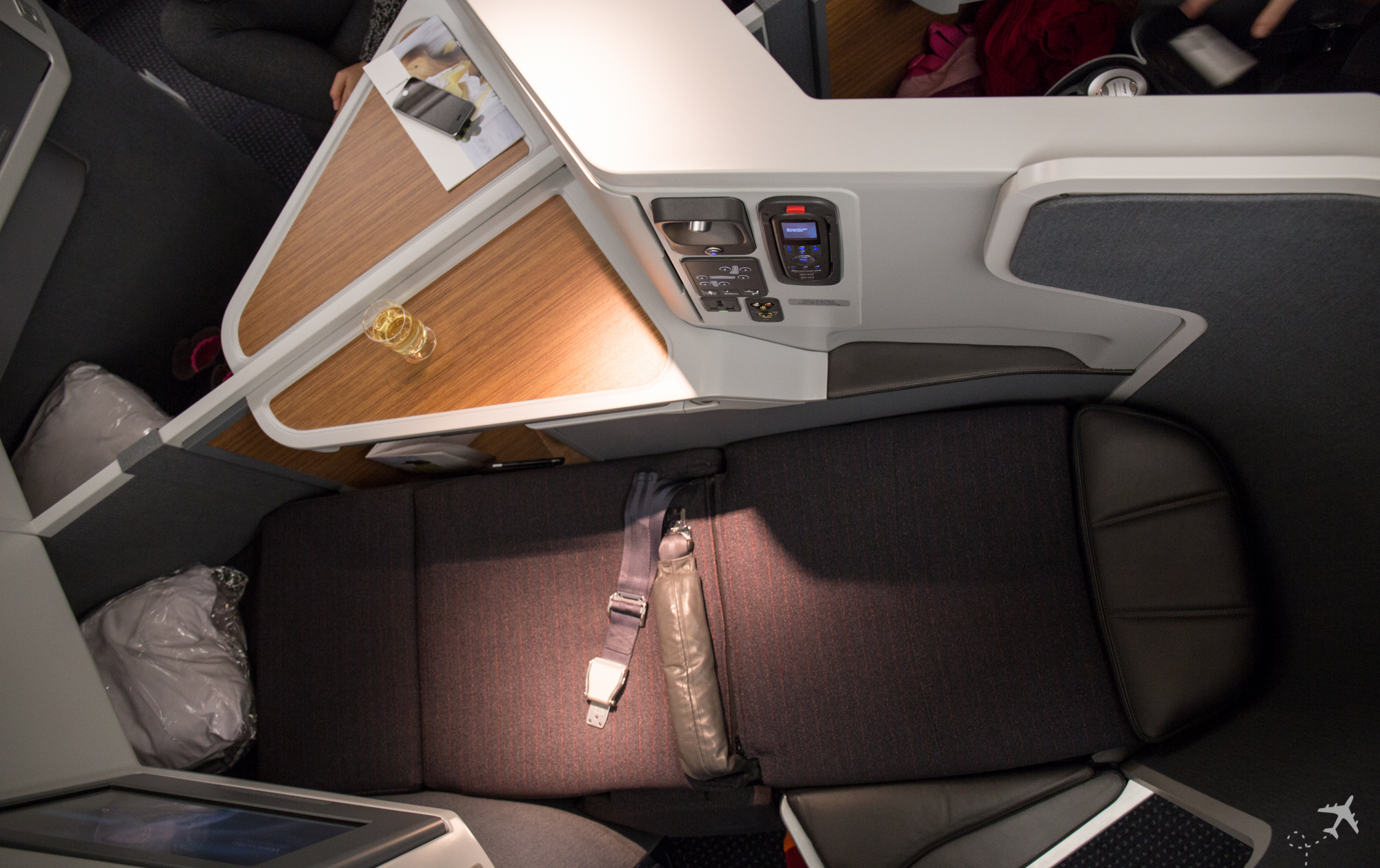 American Airlines Business Class Sitz flach