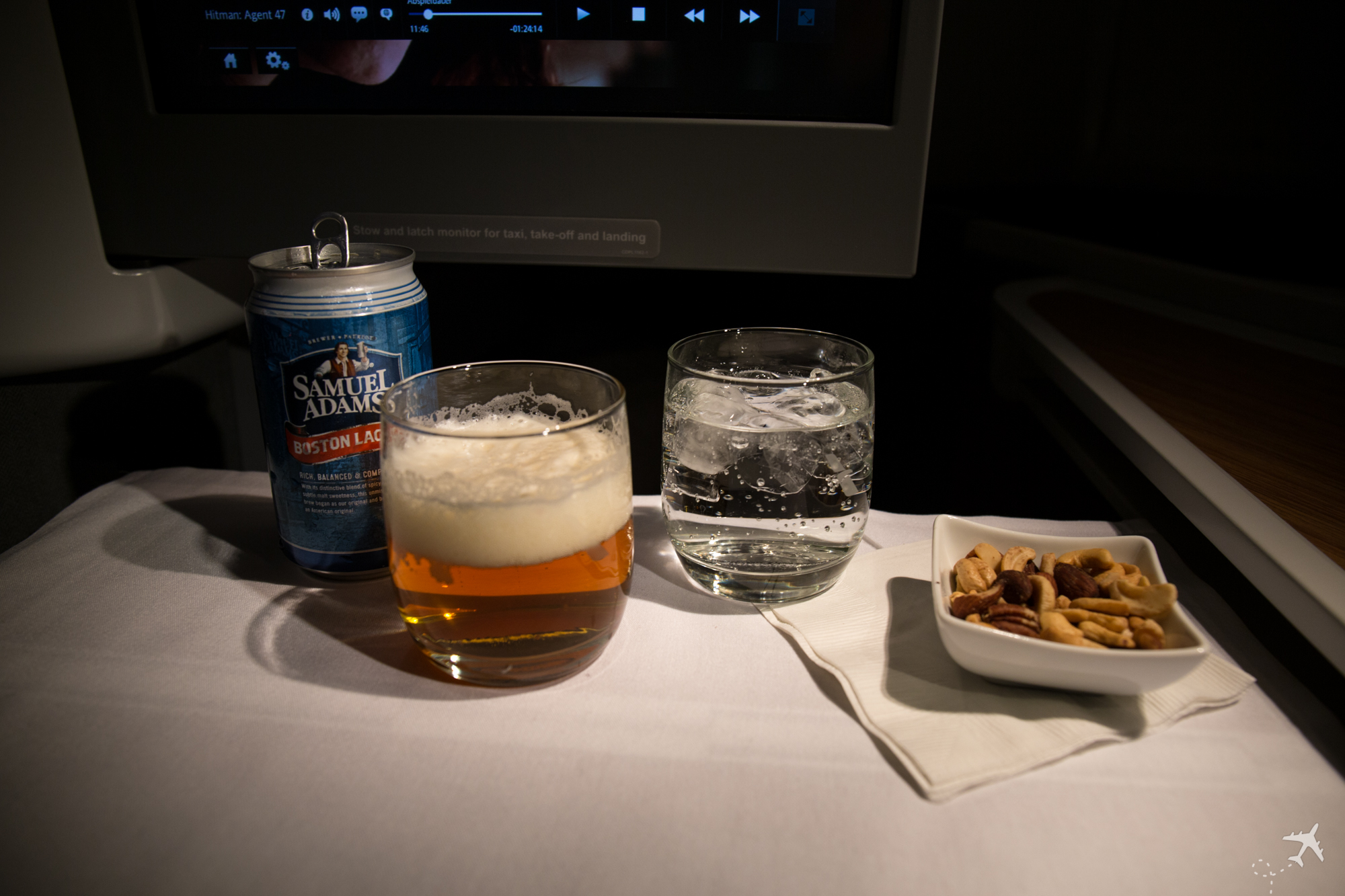 American Airlines Business Class Snack