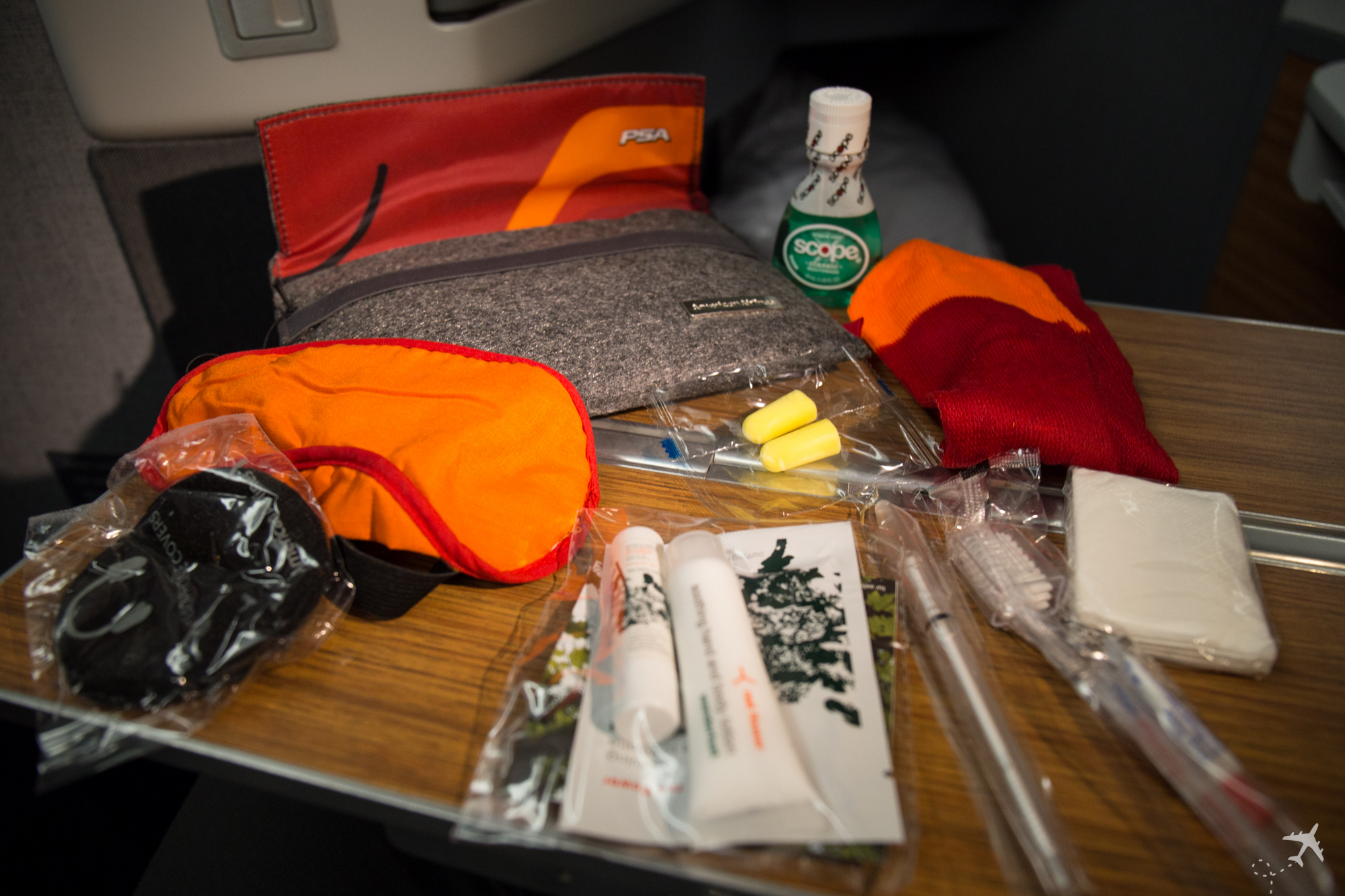 American Airlines Business Class Amenity Kit